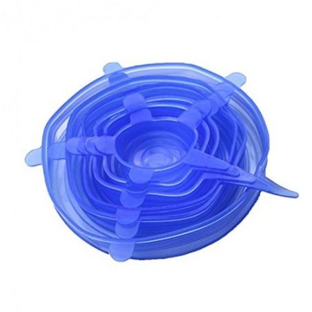 Tapas ajustables de silicón 6 pack Cero Plástico