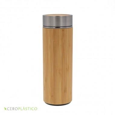 Termo aislante bambú 500 ml Cero Plástico