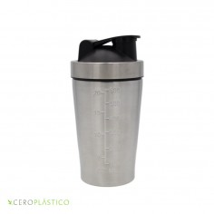 Shaker mini 600 ml. acero inoxidable Cero Plástico