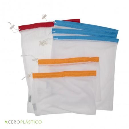 6 pack bolsas de frutas y verduras Cero Plástico