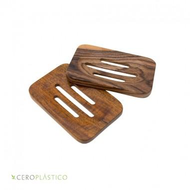 Jabonera artesanal de madera Cero Plástico