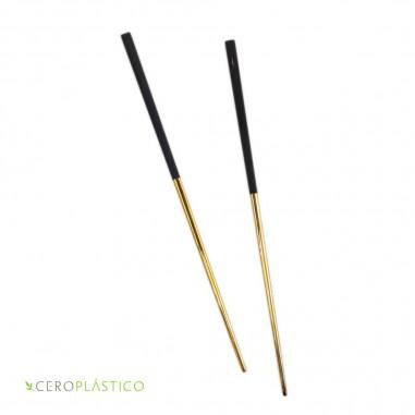 Palillos chinos metalicos Cero Plástico