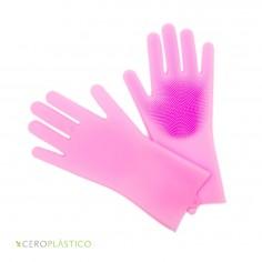 Guantes de silicón para trastes Cero Plástico