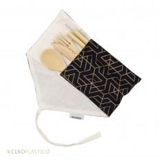 Kit de cubiertos y popotes diseño metálico Cero Plástico