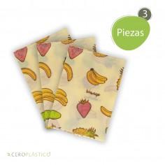 3 pack Biowraps Medianos 26x26 cm Cero Plástico