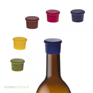 Tapa de silicon para botella