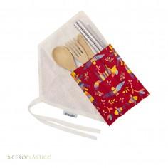 Kit de Cubiertos y Popotes arte Otomi Cero Plástico