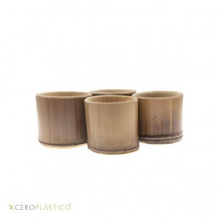 4 Mezcaleros de bambú Cero Plástico