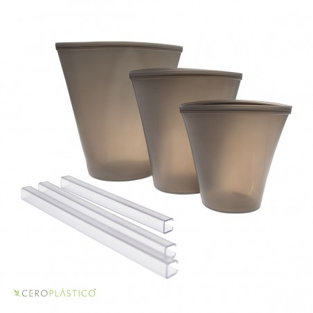 Set de bolsas para snacks tipo vaso Cero Plástico