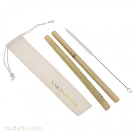Kit popotes de bambú Cero Plástico