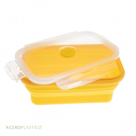 Tupper plegable 500 ml silicón Cero Plástico