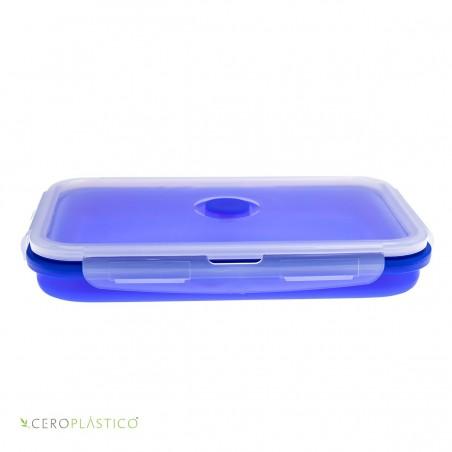 Tupper plegable 1200 ml silicón Cero Plástico