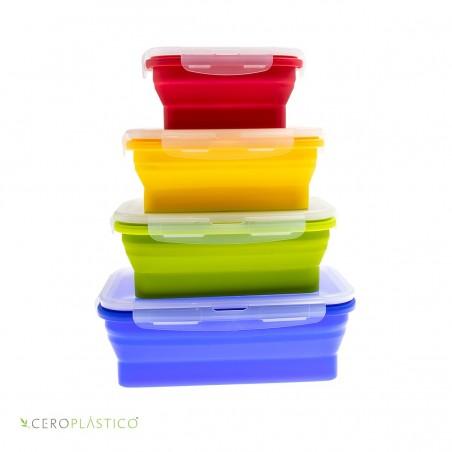 Set de tuppers plegables Cero Plástico