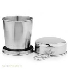 Vaso Plegable 240 ml. de Acero Inoxidable Cero Plástico