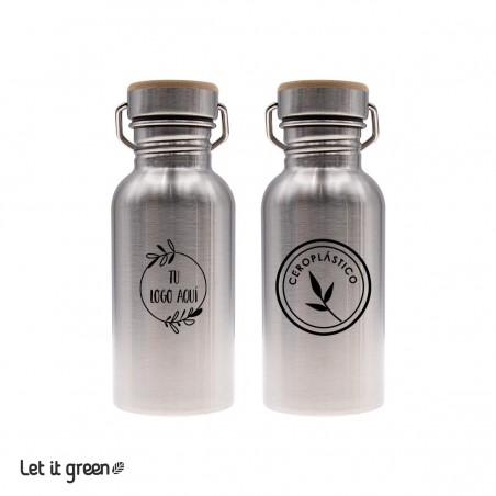 100 Botellas de acero inoxidable 500 ml personalizadas