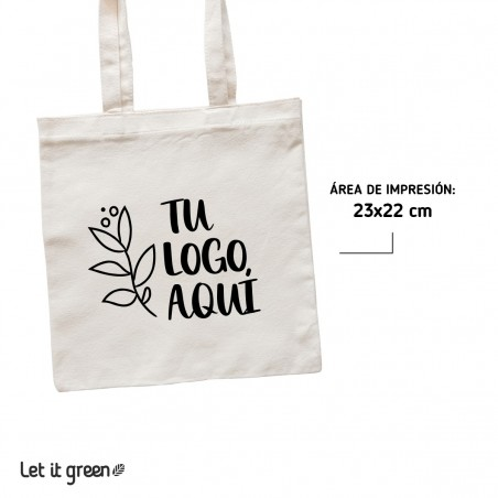 50 Bolsas Tote-bag de loneta personalizadas Cero Plástico