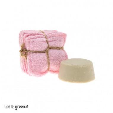 Kit desmaquillante sólido rosa Cero Plástico