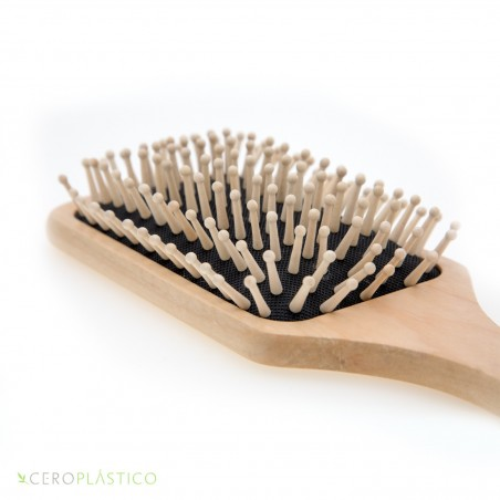 Cepillo de madera para cabello Cero Plástico
