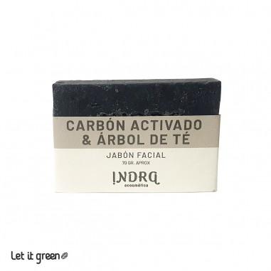 Jabón Anti Acné de carbón y árbol de té Indra Cosmética