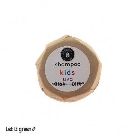 Shampoo sólido para niños de Uva Esenciel Cosmética Natural