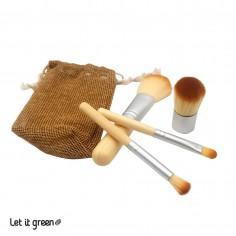 Juego de brochas bambú Cero Plástico