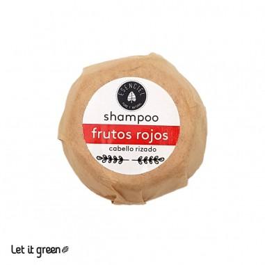 Shampoo sólido para rizos frutos rojos Esenciel Cosmética Natural