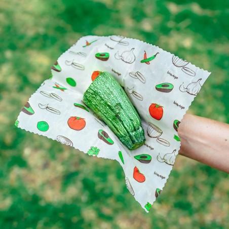 3 pack telas enceradas Chicas 21x21 cm. Biowraps