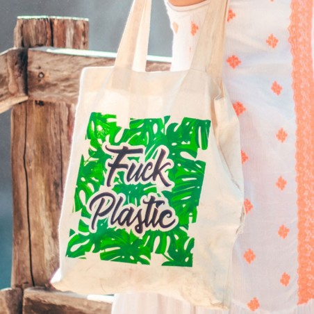 Bolsa Tote bag- F*ck Plastic Cero Plástico