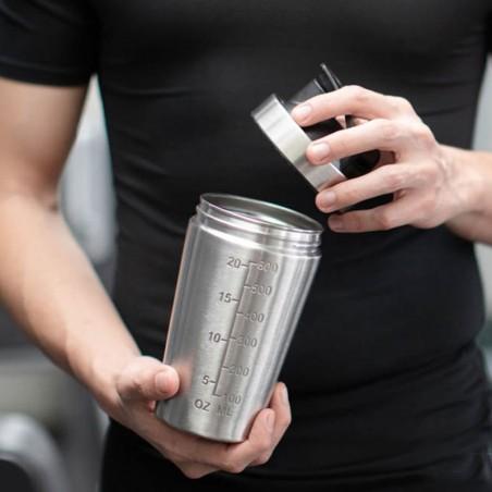 Shaker mini 600 ml. acero inoxidable Cero Plástico