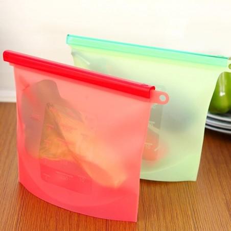 4pack bolsas silicon para congelador Cero Plástico