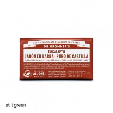 Jabón puro de castilla en barra eucalipto Dr. Bronners