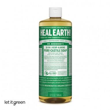 Jabón líquido puro de castilla aroma Almendra Dr. Bronners