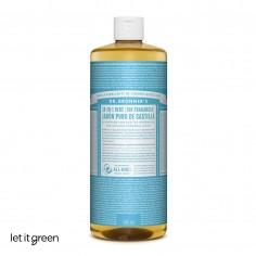 Jabón liquido puro de castilla sin fragancia bebé Dr. Bronners