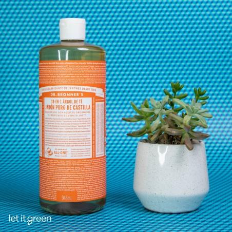 Jabón líquido puro de castilla árbol de té Dr. Bronners