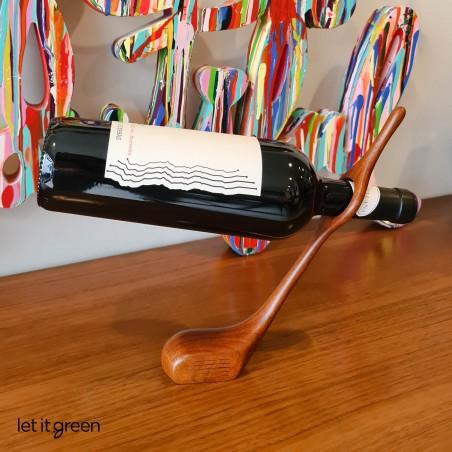 Equilibrio botella madera reciclada IMA