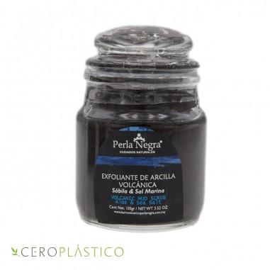 Exfoliante de arcilla y sal marina Perla Negra