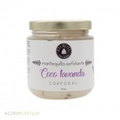 Mantequilla exfoliante - Coco Lavanda Esenciel Cosmética Natural