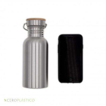 Botella acero inoxidable 500 ml. Cero Plástico