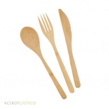 Set de cubiertos de bambú Cero Plástico