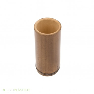 Vaso de Bambu Natural Cero Plástico