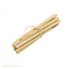10 pack de Popotes de Bambú y cepillo Cero Plástico