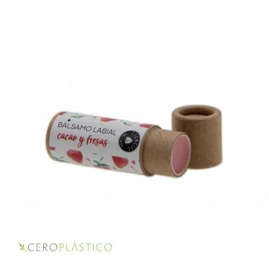 Balsamo de cacao y fresas Esenciel Cosmética Natural