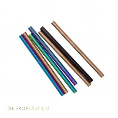 Popote para tapioca color de acero inoxidable Cero Plástico