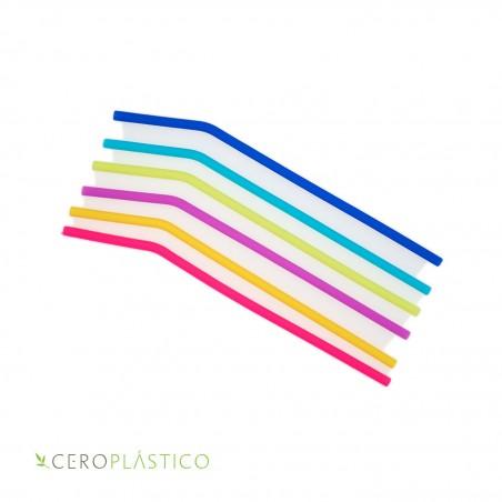 Popote de silicón delgado Cero Plástico