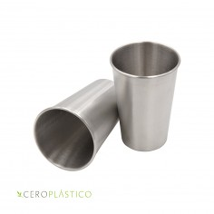 Vaso de acero inoxidable 500 ml. Cero Plástico